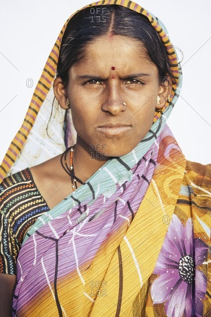 Bagalkot, Karnataka, India - December 9, 2014: Sugar cane worker, India