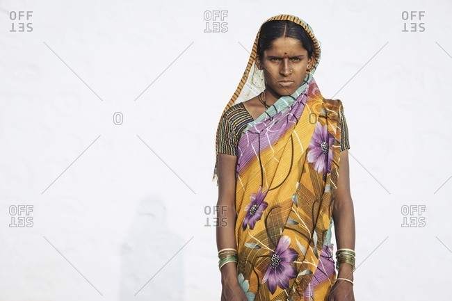 Bagalkot, Karnataka, India - December 9, 2014: Sugar cane worker portrait, India