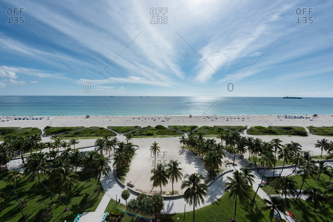 Beachfront landscaping in Miami, Florida
