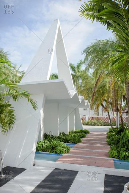 Miami, Florida, USA - September 28, 2015: Miami Modern Follies on Lincoln Road in Miami Beach, Florida