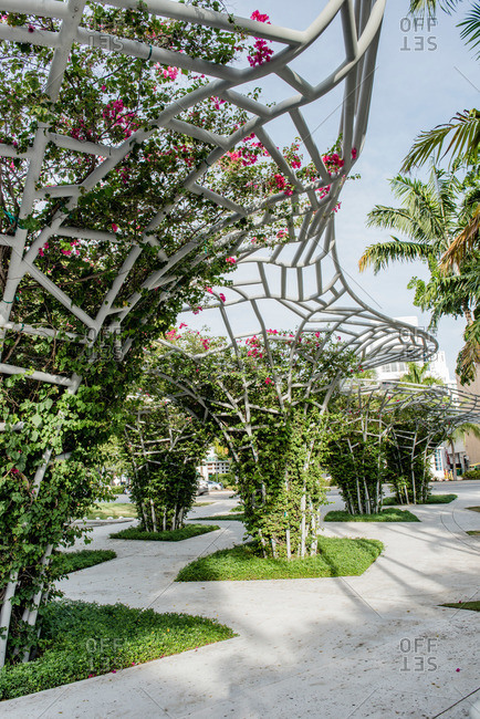 Miami, Florida, USA - September 28, 2015: Miami Beach SoundScape Park in Miami, Florida