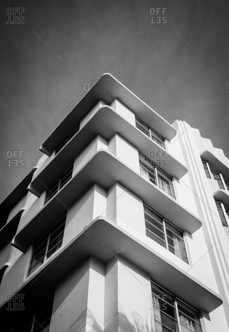 Miami, Florida, USA - September 28, 2015: Winterhaven Art-Deco Hotel in Miami Beach, Florida