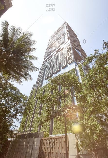Mumbai, India - October 11, 2015: Antilia building, Mumbai, India