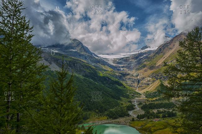 Bernina glacier in the summer, Switzerland