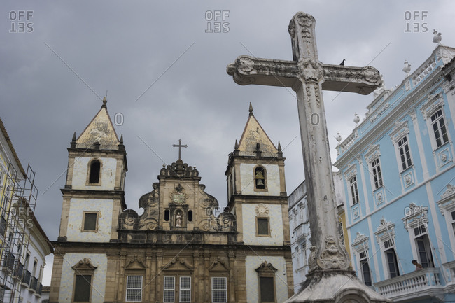 View to Franciscan Church in the old town, Salvador de Bahia, Brazil