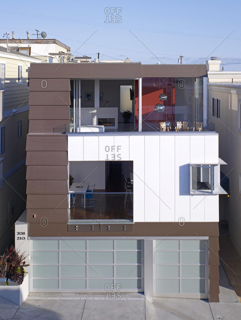Manhattan Beach, California, USA - February 9, 2016: Modern house, Manhattan Beach, California