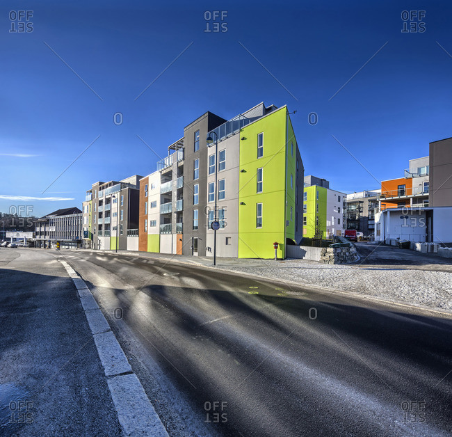 Exterior of apartment building, Rogaland, Norway