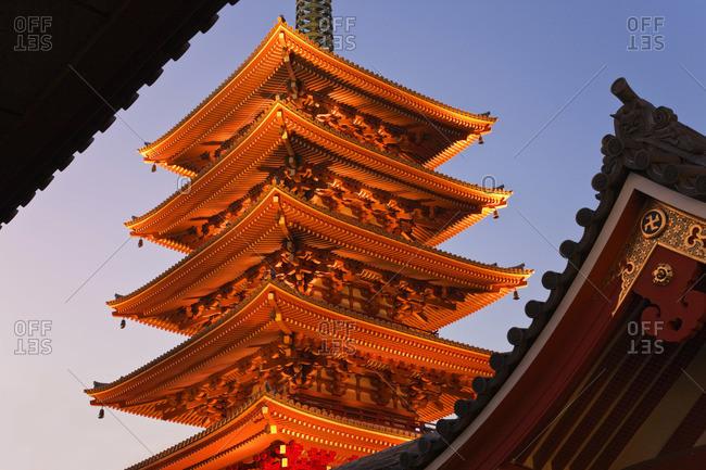 Pagoda at Senso-ji Temple, Tokyo, Japan