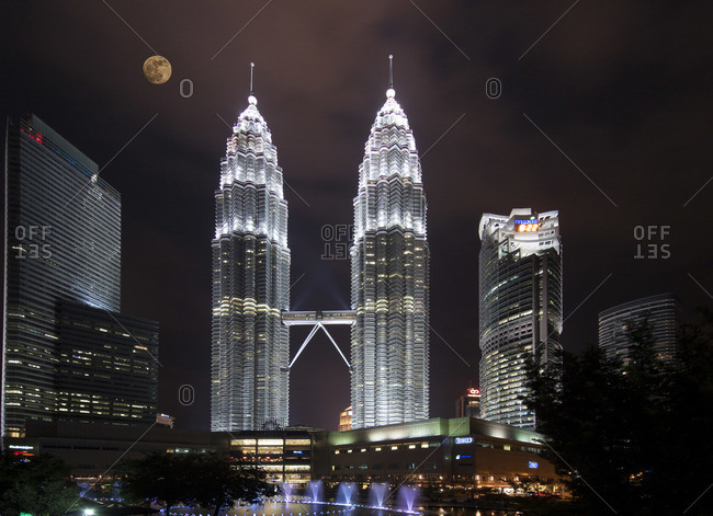 Kuala Lumpur, Malaysia - March 19, 2013: Petronas Towers, Kuala Lumpur, Malaysia