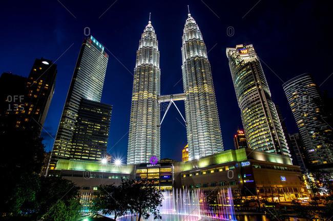 Kuala Lumpur, Malaysia - January 29, 2014: Petronas Towers in Kuala Lumpur, Malaysia