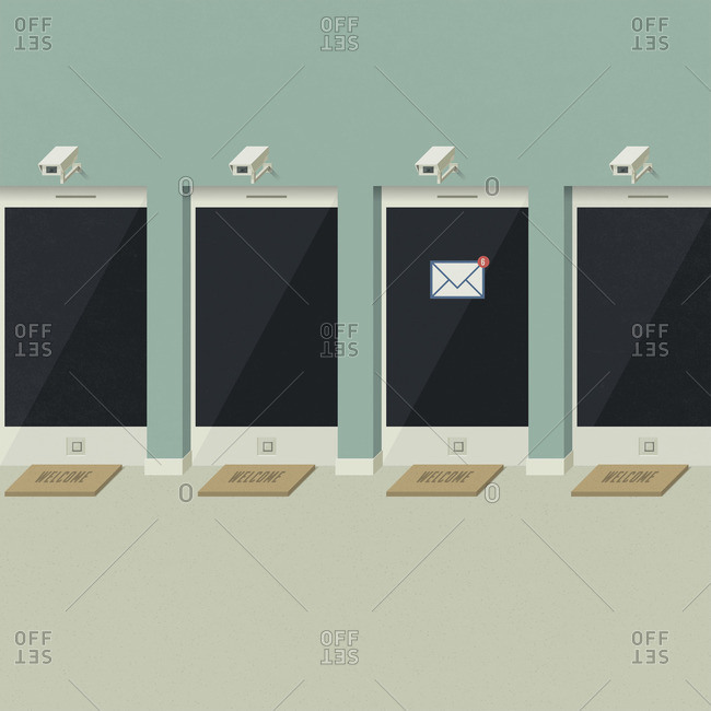 Series of smartphones outfitted with security cameras
