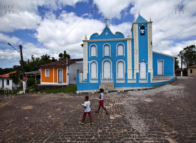 Blue church in Brazil