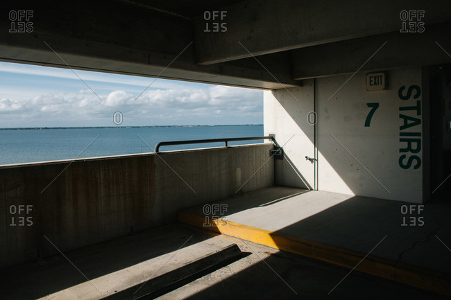 Parking garage overlooking the ocean