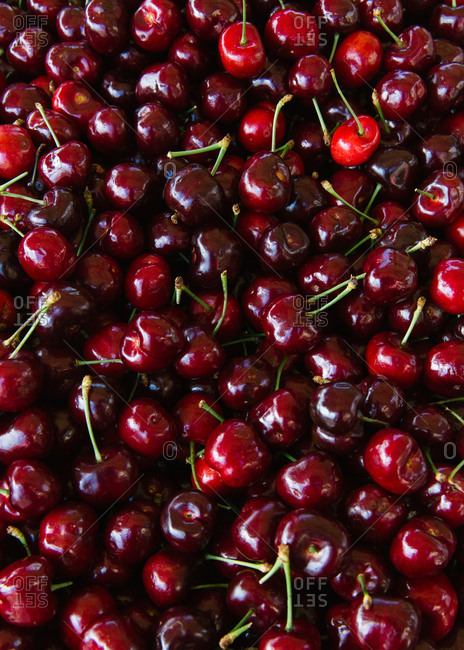 Close up of cherries