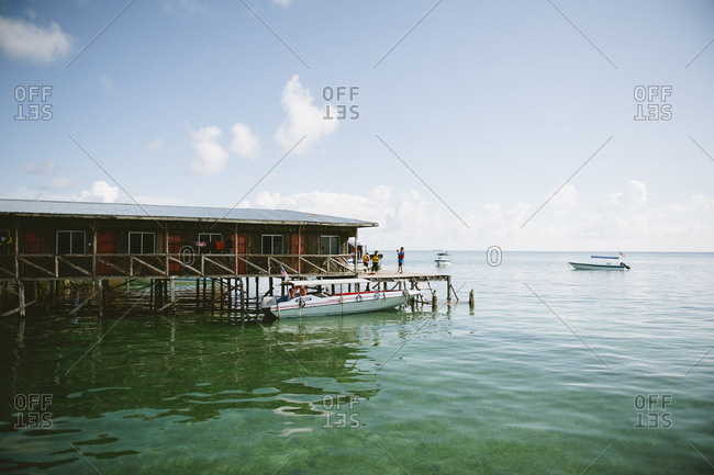 Pier and building on Malaysian coast