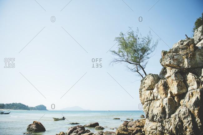 Cliffs along the Malaysian coast
