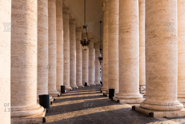 Colonnade in the Vatican - Offset