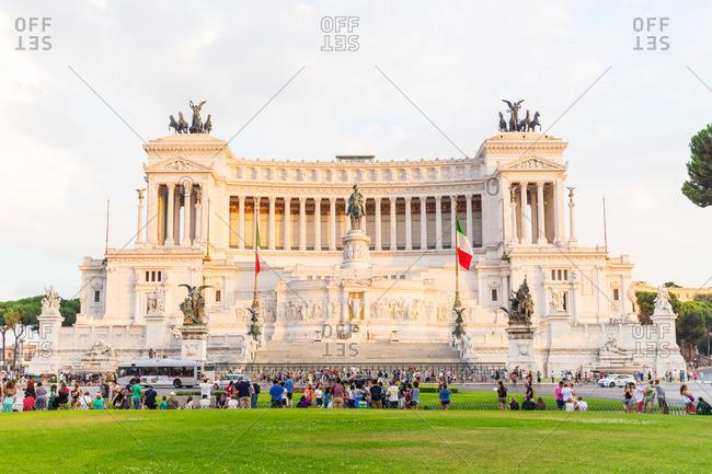 Rome, Italy - August 10, 2015: Altare della Patria in Rome, Italy