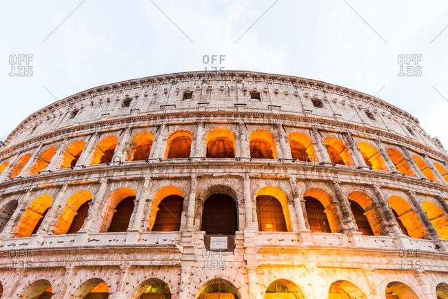 Colosseum in Rome illuminated