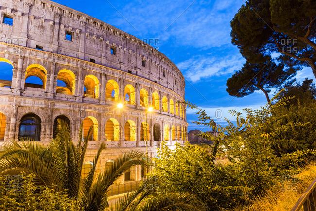 Colosseum illuminated at night, Rome
