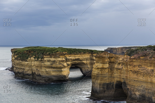 Rock formations in the ocean on the Great Ocean Road, Australia