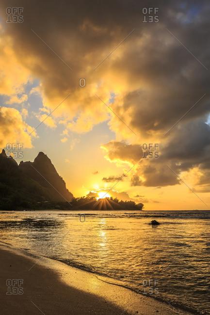 Tunnels beach sunset