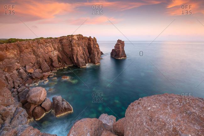 Cliffs in Sardinia, Italy