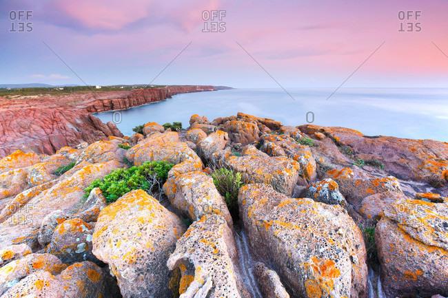 Coastal cliffs in Sardinia, Italy