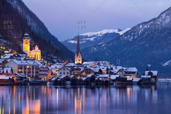 Village of Hallstatt, Austria - Offset