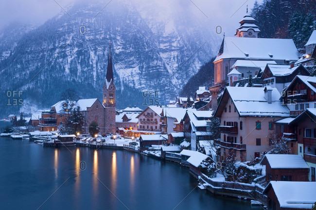 Mountain village of Hallstatt, Austria