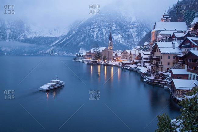 Mountain village of Hallstatt in Austria