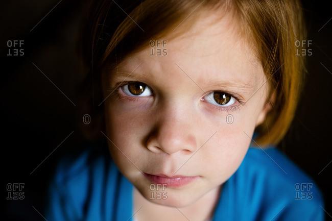 Close Up Of Girl With Hazel Eyes Stock Photo Offset