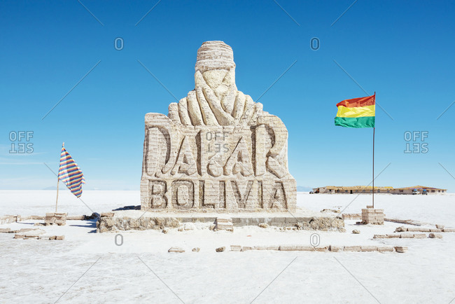 Dakar monument, Altiplano, Atacama