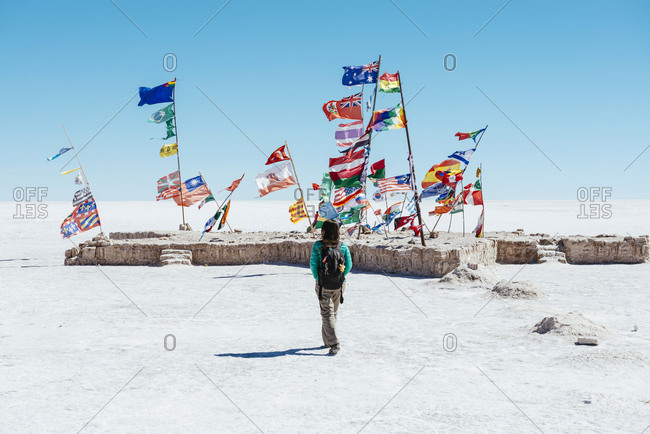 Flags from all countries, Altiplano, Atacama
