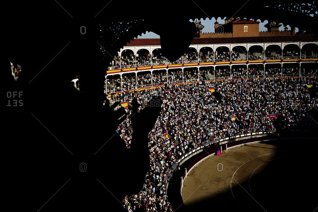 The Plaza de Toros de Las Ventas bullring in Madrid, Spain
