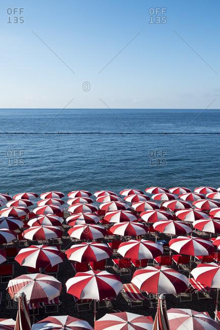 Umbrellas on the beach in Italy