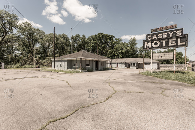 Memphis, TN, USA - May 1, 2014: Abandoned motel in the USA