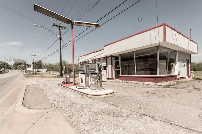 North Carolina, USA - April 27, 2014: Abandoned gas station in North Carolina