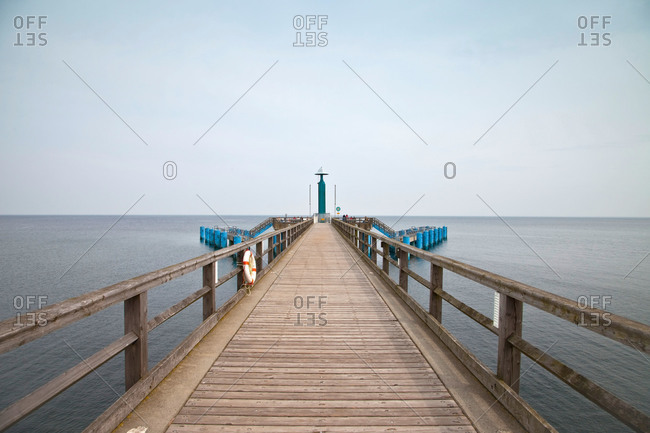 Dock in the Baltic sea
