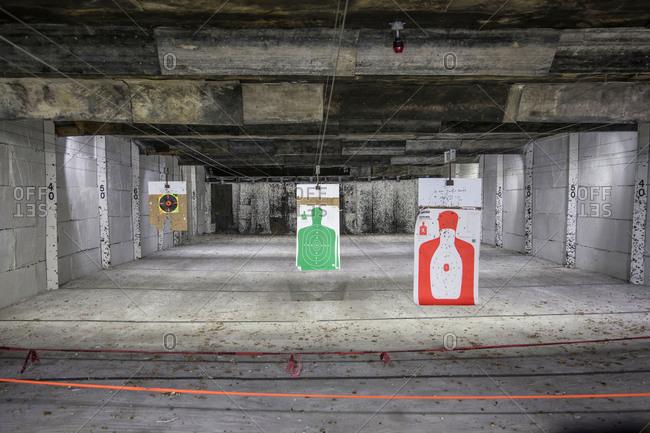 Shooting range and targets