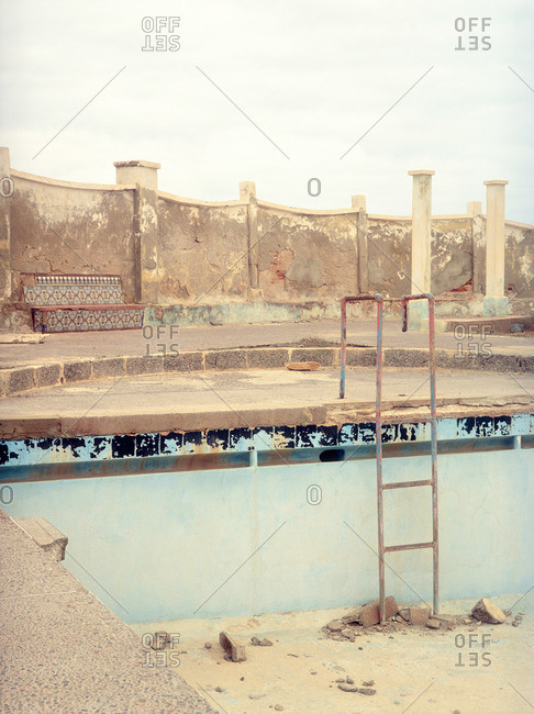 Abandoned swimming pool in Morocco