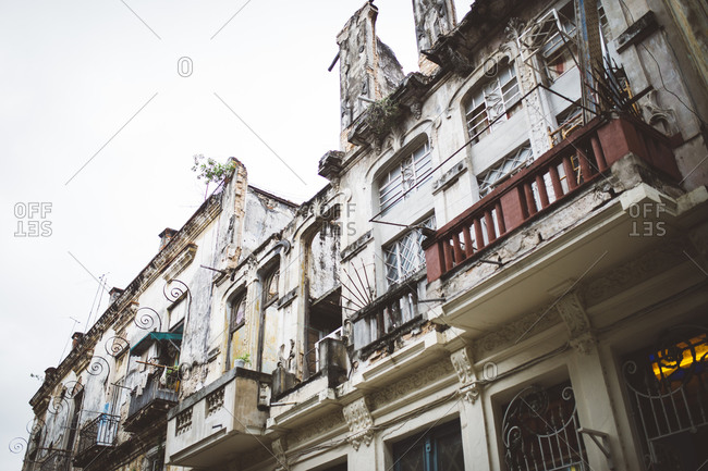 Old decaying buildings in Havana, Cuba
