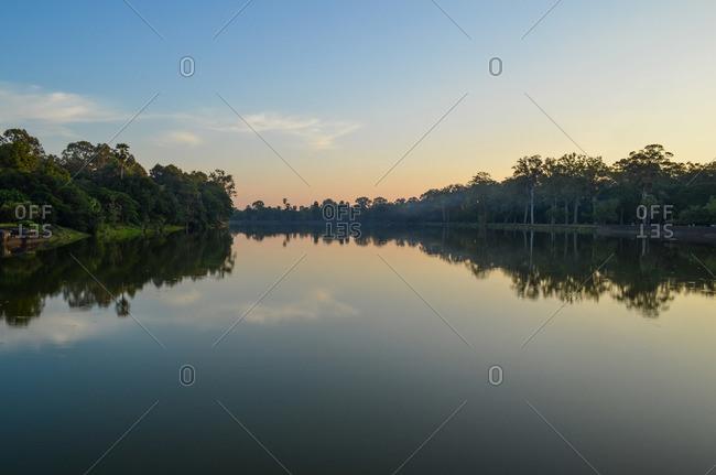 Rural Cambodian lake