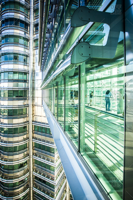 Kuala Lumpur, Malaysia - December 1, 2015: Skybridge at the Petronas Towers in Kuala Lumpur