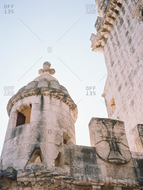 View of a stone cupola and wall