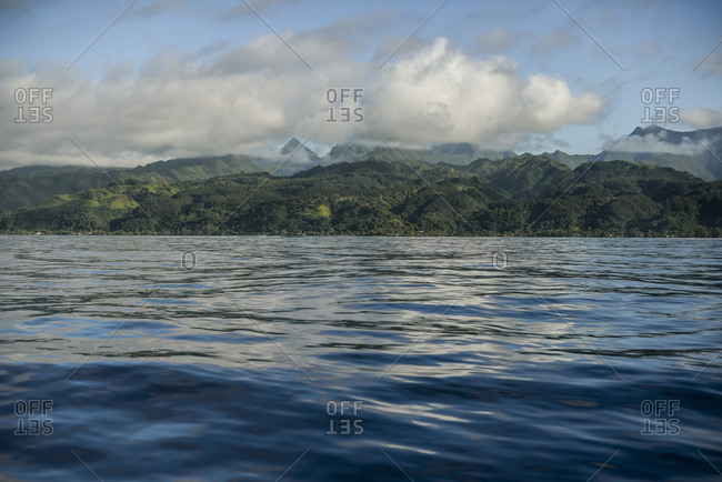 View of Tahiti from the Pacific Ocean