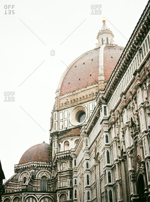 Dome and windows of the Florence Cathedral, Florence Italy