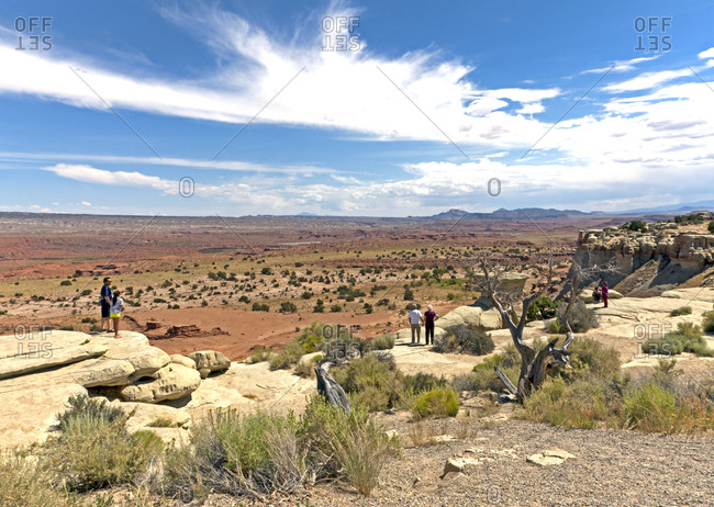 Castle Valley, a viewpoint on I-70 in Utah,  gives huge views of the San Rafael Swell and the Colorado Plateau