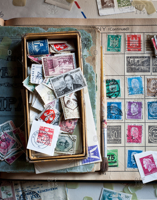 A collection of postage stamps