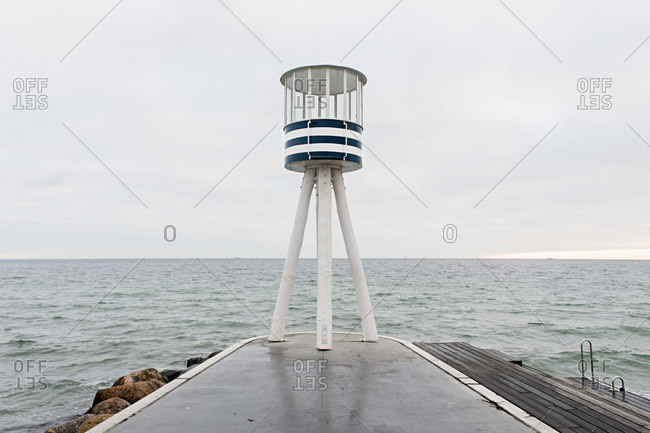 A watchtower on pier
